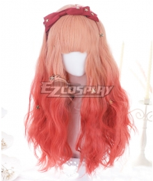 Japan Harajuku Lolita Series ELK Cancer Gradient Red Orange Cosplay Wig