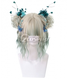 Japan Harajuku Lolita Series Golden Green Cosplay Wig