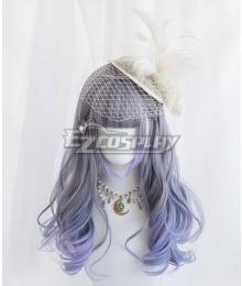 Japan Harajuku Lolita Series Gradient Blue Cosplay Wig