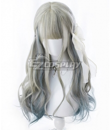 Japan Harajuku Lolita Series Gradient Linen Green Cosplay Wig-Only Wig