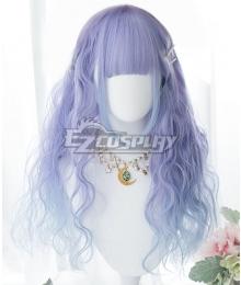 Japan Harajuku Lolita Series Gradient Purple Blue Cosplay Wig