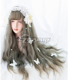 Japan Harajuku Lolita Series Green Grey Cosplay Wig