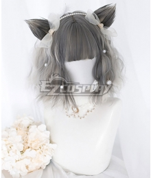 Japan Harajuku Lolita Series Grey Short Cosplay Wig