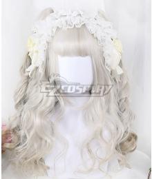 Japan Harajuku Lolita Series Lyrose White Cosplay Wig