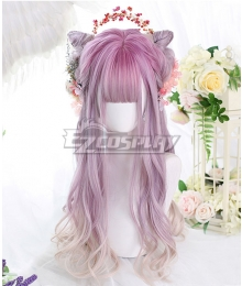 Japan Harajuku Lolita Series Purple Rhyme Pink Cosplay Wig