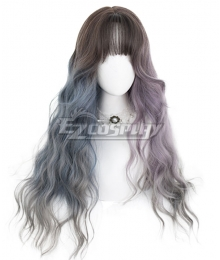 Japan Harajuku Lolita Series Witch dream Gray Pink Blue Cosplay Wig