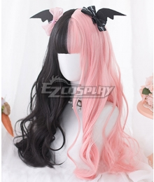 Japan Harajuku Lolita Seriest Black Pink Cosplay Wig - Only Wig