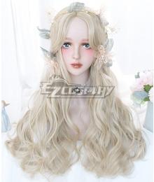 Japan Harajuku Lolita Seriest Pink Black Gradient Color Cosplay Wig - Only Wig