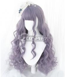 Japan Harajuku Lolita Seriest Light Purple Cosplay Wig - Only Wig