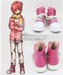 Jibaku Shounen Hanako-Kun Mitsuba Sousuke Red Cosplay Shoes