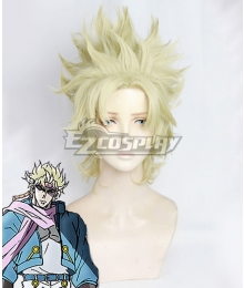 Jojo'S Bizarre Adventure: Battle Tendency Caesar Anthonio Zeppeli Light Golden Cosplay Wig