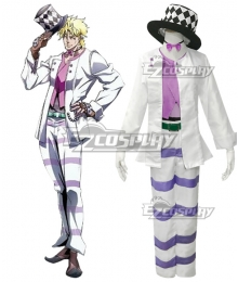 JoJo's Bizarre Adventure Caesar Anthonio Zeppeli Cosplay Costume White Edition