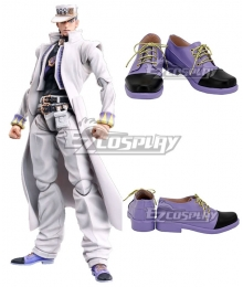 JoJo's Bizarre Adventure: Diamond Is Unbreakable Jotaro Kujo Purple Black Cosplay Shoes