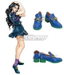 JoJo's Bizarre Adventure: Diamond is Unbreakable Yukako Yamagishi Blue Cosplay Shoes