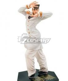 Jojo'S Bizarre Adventure :Unbreakble Diamond Josuke Higashikata White Cosplay Costume