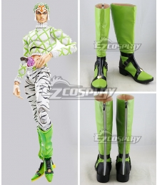 JoJo's Bizarre Adventure Guido Mista Green Shoes Cosplay Boots