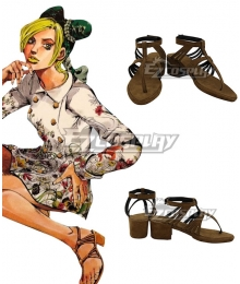 JoJo's Bizarre Adventure JoJo's Bizarre Encyclope Jolyne Cujoh Brown Cosplay Shoes