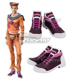 JoJo's Bizarre Adventure JoJolion Josuke Higashikata Purple Cosplay Shoes