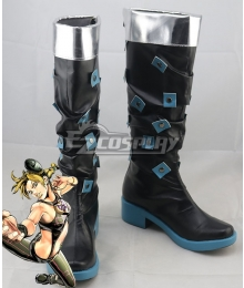 JoJo's Bizarre Adventure: Stone Ocean Jolyne Cujoh Black Shoes Cosplay Boots
