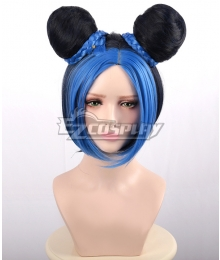 JoJo's Bizarre Adventure Jolyne Cujoh Blue Black Cosplay Wig