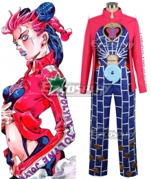 JoJo's Bizarre Adventure: Stone Ocean Jolyne Cujoh Red Blue Cosplay Costume