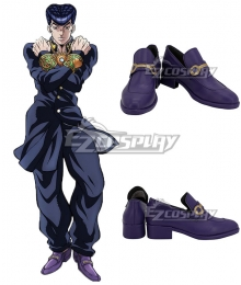 JoJo's Bizarre Adventure Josuke Higashikata Purple Cosplay Shoes