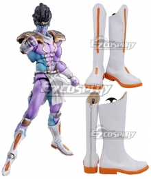 JoJo's Bizarre Adventure Jotaro Kujo Star Platinum White Shoes Cosplay Boots