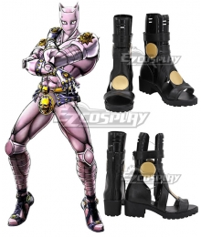 Jojo'S Bizarre Adventure Kira Yoshikage Killer Queen Black Cosplay Shoes