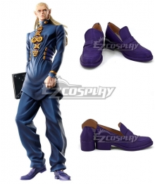 JoJo's Bizarre Adventure Mikitaka Hazekura Purple Cosplay Shoes