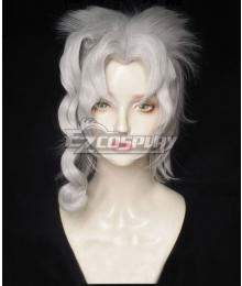 JoJo's Bizarre Adventure Noriaki Kakyoin Female White Cosplay Wig