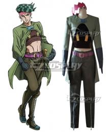 JoJo's Bizarre Adventure Rohan Kishibe Green Cosplay Costume