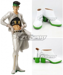 JoJo's Bizarre Adventure: Diamond is Unbreakable Rohan Kishibe White Cosplay Shoes