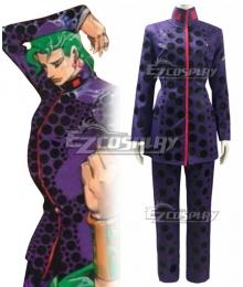Jojo'S Bizarre Adventure: Stardust Crusaders Kakyoin Noriaki Purple Leopard Print Cosplay Costume