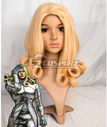 JoJo's Bizarre Adventure: Steel Ball Run Funny Valentine Golden Cosplay Wig