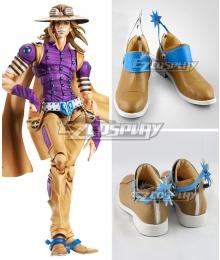 JoJo's Bizarre Adventure: Steel Ball Run Gyro Zeppeli Golden Cosplay Shoes