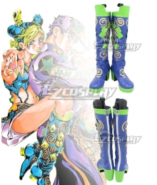 Jojo'S Bizarre Adventure:Stone Ocean Cujoh Jolyne Blue Shoes Cosplay Boots