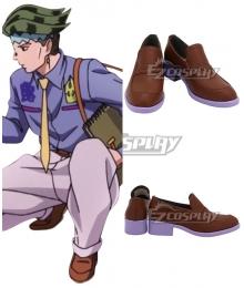 Jojo'S Bizarre Adventure: Unbreakble Diamond Rohan Kishibe Sketch Brown Cosplay Shoes