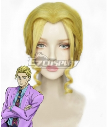 Jojo'S Bizarre Adventure :Unbreakble Diamond Kira Yoshikage Gender Conversion Girl Golden Cosplay Wig