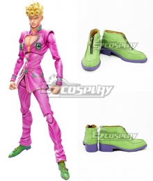 JoJo's Bizarre Adventure Vento Aureo Giorno Giovanna Green Cosplay Shoes
