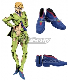 JoJo's Bizarre Adventure: Vento Aureo Golden Wind Anime Edition Pannacotta Fugo Blue Cosplay Shoes