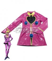 JoJo's Bizarre Adventure: Vento Aureo Golden Wind Anime Giorno Giovanna Cosplay Costume - Leather Edition