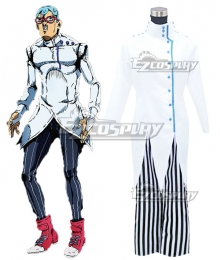 JoJo's Bizarre Adventure: Vento Aureo Golden Wind Ghiaccio Cosplay Costume