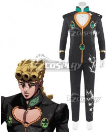 JoJo's Bizarre Adventure: Vento Aureo Golden Wind Giorno Giovanna Final Black Cosplay Costume