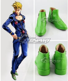 JoJo's Bizarre Adventure: Vento Aureo Golden Wind Giorno Giovanna Green Cosplay Shoes
