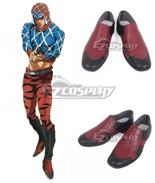 JoJo's Bizarre Adventure: Vento Aureo Golden Wind Guido Mista Black Red Cosplay Shoes