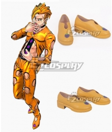 JoJo's Bizarre Adventure: Vento Aureo Golden Wind Pannacotta Fugo Golden Cosplay Shoes