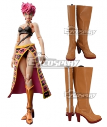JoJo's Bizarre Adventure: Vento Aureo Golden Wind Trish Una Brown Shoes Cosplay Boots