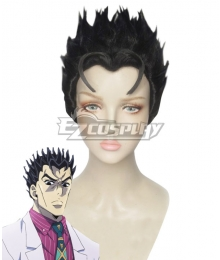 Jojo'S Bizarre Adventure :Unbreakble Diamond Kira Yoshikage Black Cosplay Wig