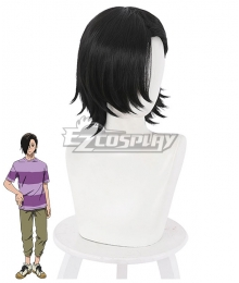 Jujutsu Kaisen Sorcery Fight  Junpei Yoshino Black Cosplay Wig