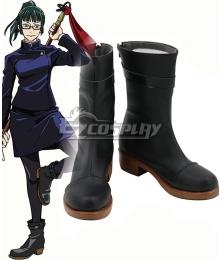 Jujutsu Kaisen Sorcery Fight Maki Zen'in Black Cosplay Shoes